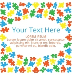 Text box with puzzles 01 vector