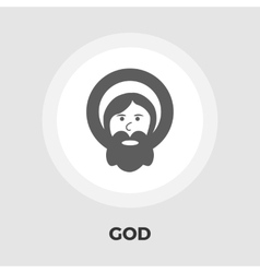 God flat icon vector image