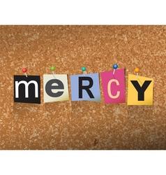 Mercy concept vector