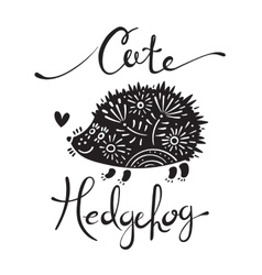 Cute hedgehog vector