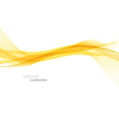 Abstract orange waves - data stream concept vector image vector image