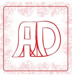 Ad monogram vector