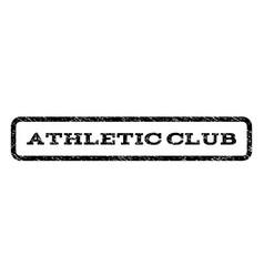 athletic club watermark stamp vector image