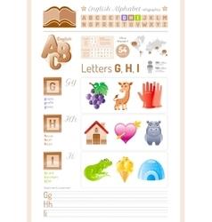 back to school Alphabet ABC vector image