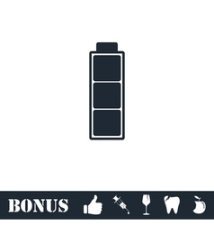 Battery icon flat vector image vector image