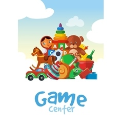Board for the childrens game center vector image