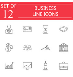 Business line icon icon set finance and managment vector