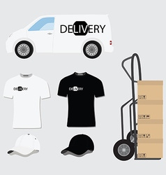 Delivery company design vector