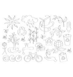 Doodle ecology vector image