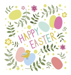Easter print vector image vector image