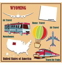 Flat map of wyoming vector