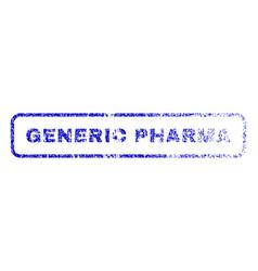 Generic pharma rubber stamp vector