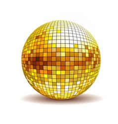 Golden disco ball vector image vector image