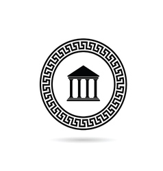 greek icon paradise in black color vector image