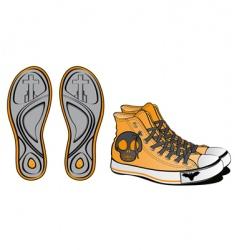 halloween footwear skull vector image vector image