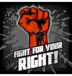 Hand up proletarian revolution - fist of vector