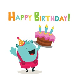Happy Birthday Monster vector image vector image