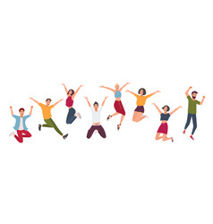 horizontal banner with happy people young guys vector image vector image