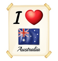 I love Australia vector image vector image