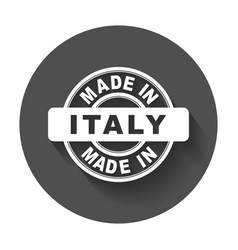 Made in italy emblem flat vector