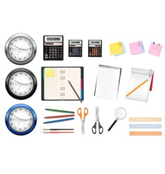 mega office supples set vector image vector image