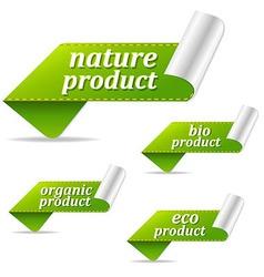 Organic sales tags vector