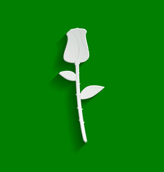 Rose sign paper whitish icon vector