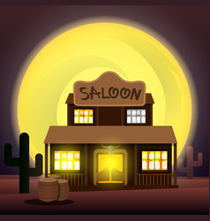 saloon - art vector image