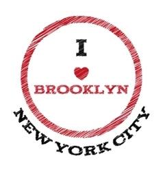 Slogan - i love brooklyn eps vector