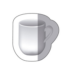 Sticker white cuppa icon vector