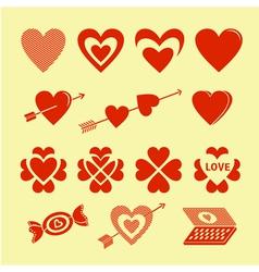 Symbols of love vector image