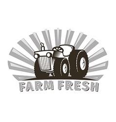 Tractor emblem design template vector