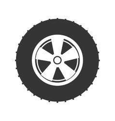 wheel tire car icon vector image