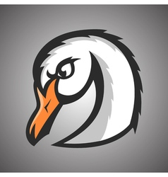 white swan Sport mascot vector image vector image