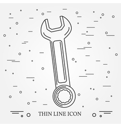Wrench Icon Wrench Icon Wrench Icon Drawing Wrenc vector image vector image
