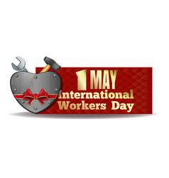 1 may international workers day design vector