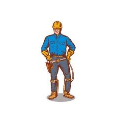 Lineman Standing vector image