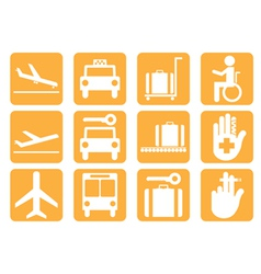Airport icons v8 vector