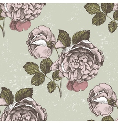 Old style roses seamless vector