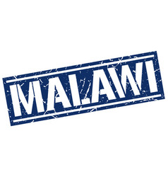 Malawi blue square stamp vector