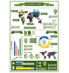 Detail info graphic with ecological symbols vector