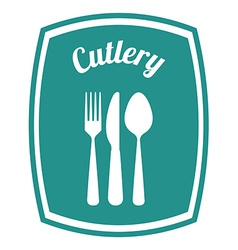 Cutlery design vector