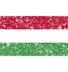 Flag of hungary with old texture vector