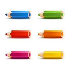 Spectrum cartoon pencils vector
