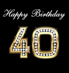 40th happy birthday vector image vector image