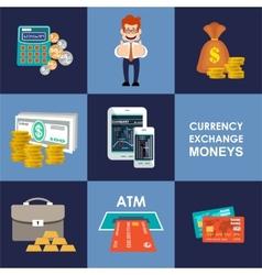 Finance banking set vector image