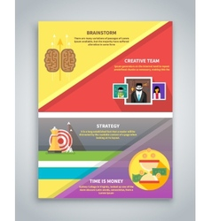Infographic business brochure banner vector
