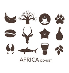 Africa icon set vector