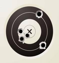 target bullet vector image