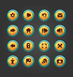 Set of button for game design vector